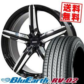 225/55R18 98V YOKOHAMA ヨコハマ BLUE EARTH RV02 ブルーアース RV-02 ESTATUS Style-CTR エステイタス スタイルCTR サマータイヤホイール4本セット