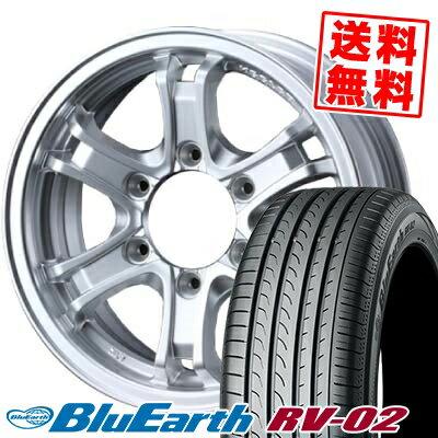 215/60R17 96H YOKOHAMA ヨコハマ BLUE EARTH RV02 ブルーアース RV02 KEELER FORCE キーラーフォース サマータイヤホイール4本セット