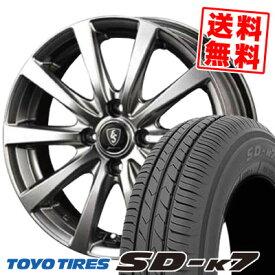 135/80R12 68S TOYO TIRES トーヨー タイヤ SD-K7 エスディーケ−セブン Euro Speed G10 ユーロスピード G10 サマータイヤホイール4本セット