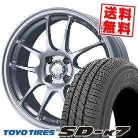 165/55R15 75V TOYO TIRES トーヨー タイヤ SD-K7 エスディーケ−セブン ENKEI PerformanceLine PF-01 エンケイ パフォーマンスライン PF01 サマータイヤホイール4本セット