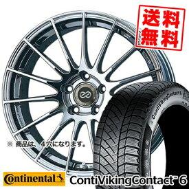 185/65R15 CONTINENTAL コンチネンタル ContiVikingContact6 コンチバイキングコンタクト6 ENKEI RS05 エンケイ RS05 スタッドレスタイヤホイール4本セット