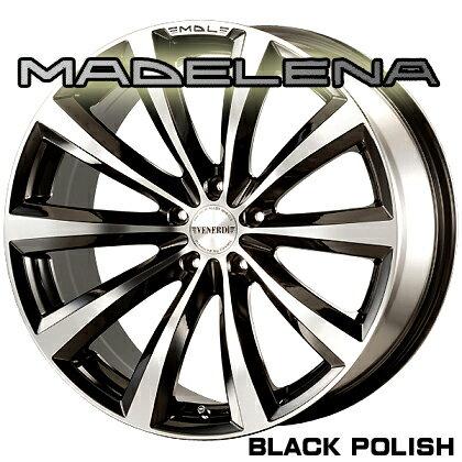 【アルミホイール単品1本価格】VENERDI MADELENA/ヴェネルディ マデリーナ19X8.5J 5穴 PCD:114.3カラー:BLACK POLISH