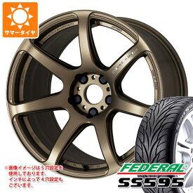 サマータイヤ 195/45R16 84V XL フェデラル SS595 エモーション T7R 6.5-16 タイヤホイール4本セット