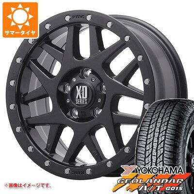 サマータイヤ225/70R16103HヨコハマジオランダーA/TG015ブラックレターKMCXD127バリーレネゲード専用7.0-16タイヤホイール4本セット