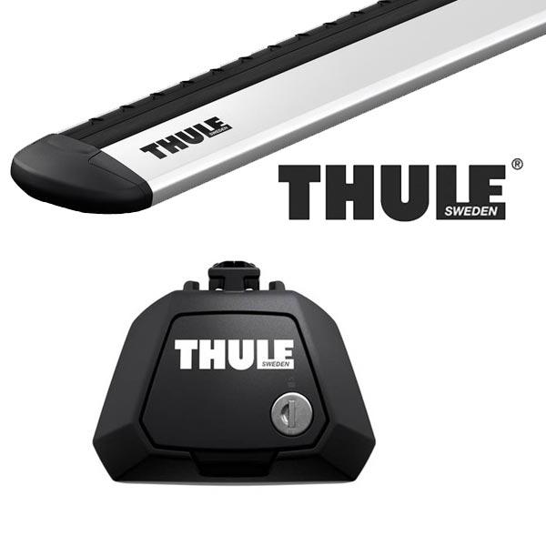THULE スーリー フォルクスワーゲン クロスゴルフ ルーフレール付 1K系 07〜 ルーフキャリア取付1台分セット TH7104+TH7112セット
