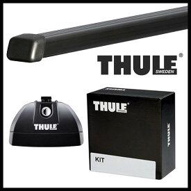 THULE スーリー スバル インプレッサ 5ドアハッチバック(STi spec Cは適応外) GH系,GR系 H19/6〜 ルーフキャリア取付1台分セット TH753+TH7122+TH3068セット
