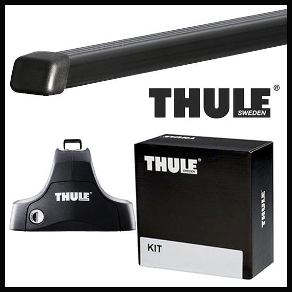 THULE スーリー プジョー 208 3ドア/5ドア A9系 12〜 ルーフキャリア取付1台分セット TH754+TH7123+TH1687セット