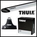 THULE スーリー ニッサン ノート 5ドア E12 H24/8〜 ルーフキャリア取付1台分セット TH754+TH7112+TH1690セット