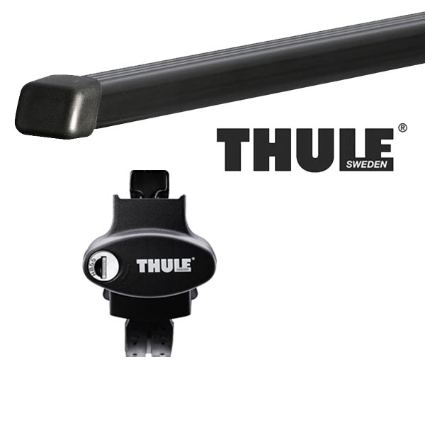 THULE スーリー フォルクスワーゲン ゴルフオールトラック ルーフレール付 15〜 ルーフキャリア取付1台分セット TH775+TH7122セット