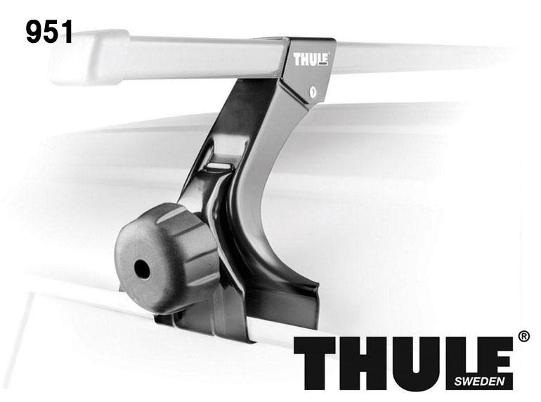 【スーパーセール 最大41倍!6/21 01:59迄】 THULE Raingutter Foot TH951 フット 4個セット スーリー スクエアバーシステム ベースキャリア