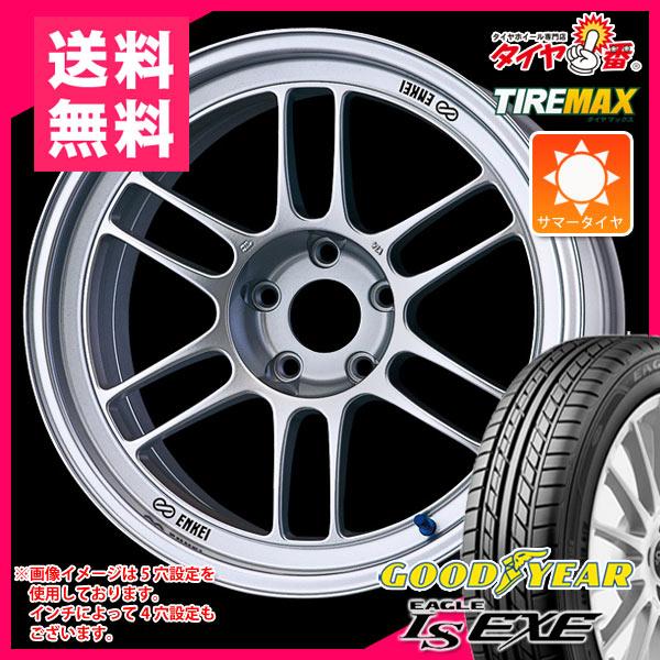 サマータイヤ 225/40R18 92W XL グッドイヤー イーグル LSエグゼ & ENKEI エンケイ レーシング RPF1 7.5-18 タイヤホイール4本セット