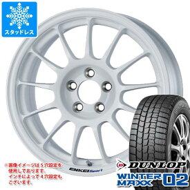 スタッドレスタイヤ ダンロップ ウインターマックス02 WM02 195/50R16 84Q & ENKEI エンケイスポーツ RC-T5 7.0-16 タイヤホイール4本セット 195/50-16 DUNLOP WINTER MAXX 02 WM02