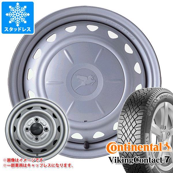 スタッドレスタイヤ コンチネンタル バイキングコンタクト7 175/65R14 86T XL & キャロウィン 5.5-14 タイヤホイール4本セット 175/65-14 CONTINENTAL VikingContact 7
