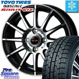 TOYO オブザーブ ガリット GARIT GIZ スタッドレス スタッドレスタイヤ 135/80R13 WEDS ウェッズ TEAD TRICK テッドトリック ホイールセット 4本 13インチ 13 X 4 +45 4穴 100