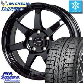 ミシュラン 2019年製 X-ICE XI3+ エックスアイス XICE 3+ スタッドレスタイヤ 正規品 225/60R17 HotStuff G-SPEED G-03 ブラック ホイールセット 4本 17インチ 17 X 7 +38 5穴 114.3