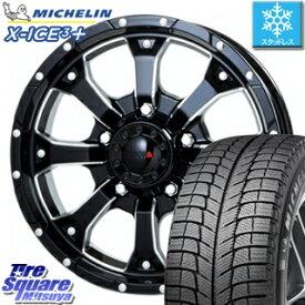 ミシュラン スタッドレスタイヤ X-ICE XI3+ スリープラス エックスアイス スタッドレス 215/65R16 MKW MK-46 M/L+ ミルドブラック ホイールセット 4本 16インチ 16 X 7(US) +35 5穴 110