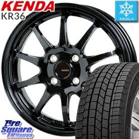 【7/15は最大21倍】 KENDA ICETEC NEO KR36 2019年製【特価】ケンダ スタッドレスタイヤ軽自動車 165/55R15 HotStuff G-SPEED G-04 G04 ブラック ホイールセット 15インチ 15 X 4.5J +45 4穴 100