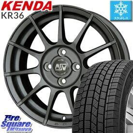 KENDA スタッドレスタイヤ ICETEC NEO KR36 2018年製 スタッドレス 175/65R14 MSW by OZ MSW85 ホイールセット 4本 14インチ 14 X 6 +35 4穴 98