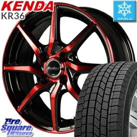 KENDA ICETEC NEO KR36 2019年製【特価】ケンダ スタッドレスタイヤ軽自動車 165/55R15 MANARAY Euro Speed S810 レッド ホイールセット 15インチ 15 X 4.5J +45 4穴 100