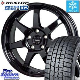 DUNLOP WINTER MAXX 02 ウィンターマックス WM02 ダンロップ スタッドレスタイヤ スタッドレス 235/50R17 HotStuff G-SPEED G-03 ブラック ホイールセット 4本 17インチ 17 X 7 +38 5穴 114.3