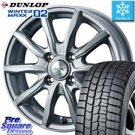 DUNLOP スタッドレスタイヤ ダンロップ WINTER MAXX 02 ウィンターマックス WM02 スタッドレス 135/80R13 WEDS ジョーカーシェイク ホイールセット 4本 13インチ 13 X 4 +45 4穴 100