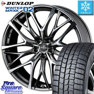 DUNLOP WINTER MAXX 02 winter max WM02 CUV Dunlop studless tire stud bolt  reply 225/45R18 WEDS Weds Kranze 38216 クレンツェ Weaval 100EVO wheel set four  18