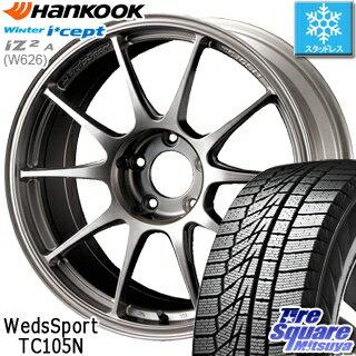 HANKOOK WINTER ICEPT W626 2018年製造品 スタッドレス スタッドレスタイヤ 185/60R15 WEDS WedsSport ウェッズ スポーツ TC105N ホイールセット 4本 15インチ 15 X 6.5 +43 4穴 100
