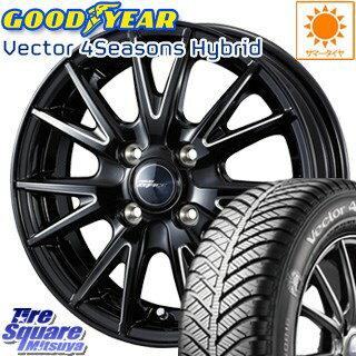 グッドイヤー ベクター Vector 4Seasons Hybrid オールシーズンタイヤ 175/65R15 WEDS ウェッズ RIZLEY ライツレー ZEFICE X ホイールセット 4本 15インチ 15 X 5.5 +42 4穴 100