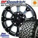 BF Goodrich 在庫 グッドリッチ オールテレーン TA T/A KO2 ホワイトレター サマータイヤ 225/70R16 MKW MK-46 M/L+ …