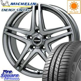 ミシュラン ENERGY SAVER + エナジーセイバープラス 正規品 サマータイヤ 195/55R15 HotStuff WAREN ヴァーレン W04 4本 ホイールセット 15インチ 15 X 6 +43 5穴 114.3