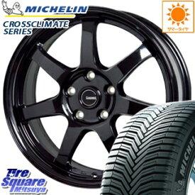 ミシュラン CROSSCLIMATE クロスクライメイト + 正規品 オールシーズンタイヤ 205/60R16 HotStuff G-SPEED G-03 ブラック ホイールセット 4本 16インチ 16 X 6.5 +53 5穴 114.3