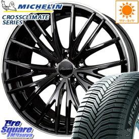 ミシュラン CROSSCLIMATE クロスクライメイト SUV 正規品 オールシーズンタイヤ 215/55R18 HotStuff プレシャス アスト M1 ホイールセット 4本 18インチ ●3月末迄特価 18 X 7.0J +48 5穴 114.3