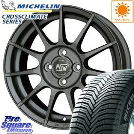 ミシュラン CROSSCLIMATE クロスクライメイト 正規品 オールシーズンタイヤ 175/65R14 MSW by OZ MSW85 ホイールセット 4本 14インチ 14 X 6 +35 4穴 98