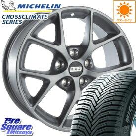 ミシュラン CROSSCLIMATE クロスクライメイト + 正規品 オールシーズンタイヤ 215/60R16 BBS GERMANY BBS SR ホイールセット 4本 16インチ 16 X 7(B65) +45 5穴 108