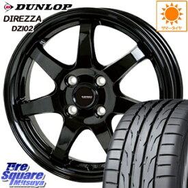 DUNLOP ダンロップ ディレッツァ DZ102 DIREZZA サマータイヤ 195/45R16 HotStuff G-SPEED G-03 ブラック ホイールセット 4本 16インチ 16 X 6 +45 4穴 100