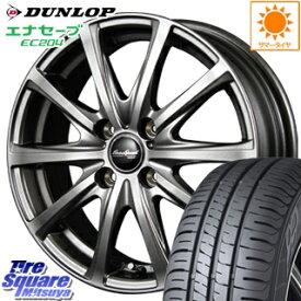 DUNLOP ダンロップ エナセーブ EC204 ENASAVE サマータイヤ 155/60R15 MANARAY EuroSpeed ユーロスピード V25 ホイールセット 4本 15インチ 15 X 4.5 +45 4穴 100