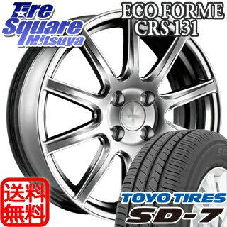 TOYOTIRES トーヨー タイヤ SD-7 サマータイヤ 185/55R15ブリヂストン ECOFORM エコフォルム CRS131 ホイール 4本セット 15インチ 15 X 6 +35 4穴 98
