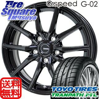 TOYOTIRES トーヨー トランパス ML ミニバン TRANPATH サマータイヤ 205/60R16HotStuff 軽量設計!G.speed G-02 ブラック ホイール 4本セット 16インチ 16 X 6.5 +38 5穴 114.3