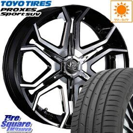 TOYOTIRES トーヨー プロクセス スポーツ PROXES Sport SUV サマータイヤ 255/45R20 MYRTLE BULLHORN ブルホーン ホイールセット 4本 20インチ 20 X 8.5 +45 5穴 108
