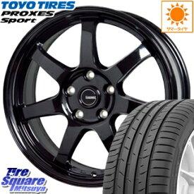 TOYOTIRES トーヨー プロクセス スポーツ PROXES Sport サマータイヤ 215/40R18 HotStuff G-SPEED G-03 ブラック ホイールセット 4本 18インチ 18 X 7.5 +48 5穴 114.3