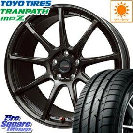 TOYOTIRES トーヨー トランパス MPZ ミニバン TRANPATH サマータイヤ 215/55R17 HotStuff クロススピード RS9 ハイパーエディション 軽量 ホイールセット 4本 17インチ 17 X 7 +48 5穴 114.3