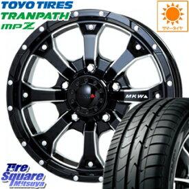 TOYOTIRES トーヨー トランパス MPZ ミニバン TRANPATH サマータイヤ 215/65R16 MKW MK-46 M/L+ ミルドブラック ホイールセット 4本 16インチ 16 X 7(US) +35 5穴 110