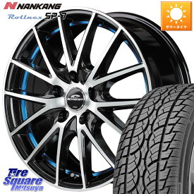 NANKANG TIRE ROLLNCX SP-7 サマータイヤ 225/60R17 MANARAY SCHNEIDER RX27 RX-27 ホイールセット 4本 17インチ 17 X 7.0J +48 5穴 114.3