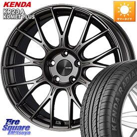【1/20はエントリーで最大25倍】【取付対象】 ENKEI エンケイ PerformanceLine PFM1 ホイールセット 15インチ 15 X 5.0J +45 4穴 100 KENDA ケンダ KOMET PLUS KR23A 軽自動車 限定 サマータイヤ 165/55R15