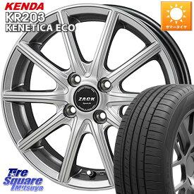 KENDA ケンダ KENETICA ECO KR203 サマータイヤ 155/65R14 Japan三陽 ZACK Sport01 ホイールセット 14インチ 14 X 4.5J +45 4穴 100