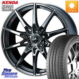 WRX S4 レヴォーグ MAZDA3 プリウスα WEDS 特価 ウェッズ Leonis レオニス SV ホイールセット 17インチ 17 X 7.0J +47 5穴 114.3 KENDA ケンダ KR201 ミニバン サマータイヤ 215/50R17
