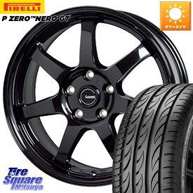 【12/1はエントリーで最大22倍】【取付対象】 XV フォレスター HotStuff G-SPEED G-03 G03 ブラック ホイールセット 17インチ 17 X 7.0J +48 5穴 100 ピレリ P ZERO ピーゼロ NERO ネロ GT(数量限定特価) サマータイヤ 225/55R17