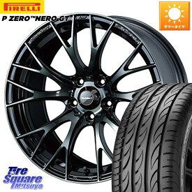 WRX S4 レヴォーグ MAZDA3 プリウスα WEDS 72728 SA-20R ウェッズ スポーツ ホイールセット 17インチ 17 X 7.0J +48 5穴 114.3 ピレリ P ZERO ピーゼロ NERO ネロ GT サマータイヤ 215/50R17
