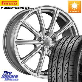 リーフ インサイト WRX S4 レヴォーグ MAZDA3 プリウスα ブリヂストン ECOFORM エコフォルム SE-15 SE15 ホイールセット 17インチ 17 X 7.0J +45 5穴 114.3 ピレリ P ZERO ピーゼロ NERO ネロ GT サマータイヤ 215/50R17