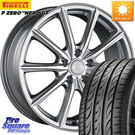 リーフ インサイト WRX S4 レヴォーグ MAZDA3 プリウスα ブリヂストン ECOFORME エコフォルム CRS15 ホイールセット 17 X 7.0J +45 5穴 114.3 ピレリ P ZERO ピーゼロ NERO ネロ GT サマータイヤ 215/50R17
